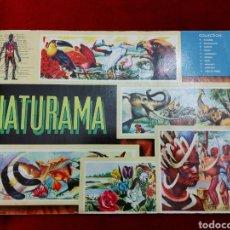 Coleccionismo Álbumes: ALBUM DE CROMOS NATURAMA DE MÉXICO/NATURALEZA/ANIMALES/PLANTAS/RAZAS/CUERPO HUMANO/PECES/MARIPOSAS. Lote 228352150