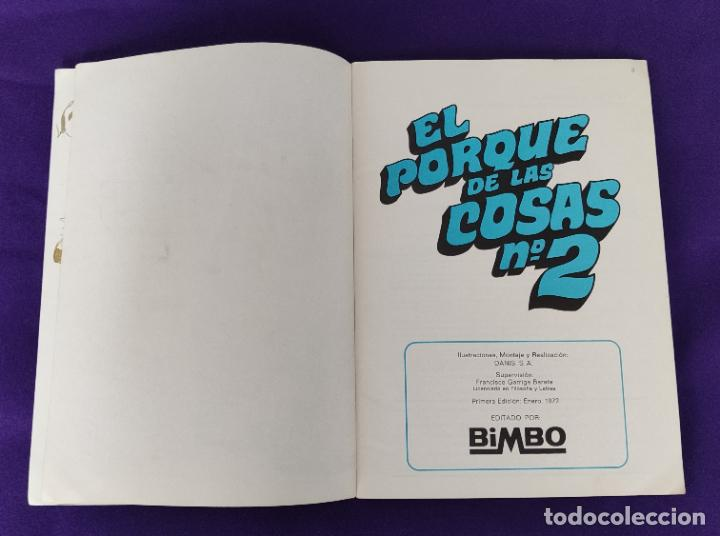 Coleccionismo Álbumes: ALBUM INCOMPLETO. EL PORQUE DE LAS COSAS Nº2. BIMBO. 1972. FALTAN 6 CROMOS DE 232. - Foto 3 - 229196715