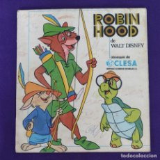Coleccionismo Álbumes: ALBUM INCOMPLETO. ROBIN HOOD DE WALT DISNEY. CLESA. 1974. EDITORIAL FHER... Lote 229198365
