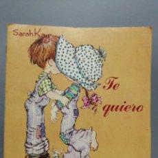 Coleccionismo Álbumes: ALBUM SARAH KAG TE QUIERO PANINI FALTA 7 CROMOS. Lote 229985915