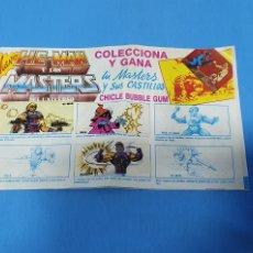 Coleccionismo Álbumes: ÁLBUM DE PREMIO - CHICLE BUBBLE GUM - HE-MAN Y LOS MASTERS DEL UNIVERSO. Lote 230613855