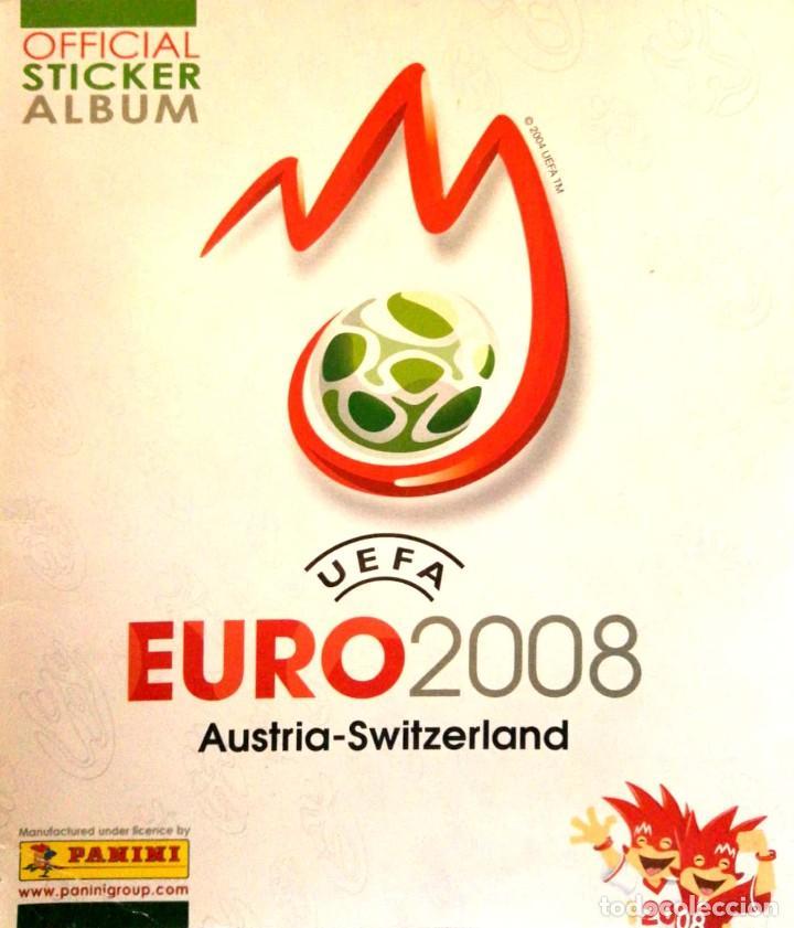 ALBUM UEFA EURO AUSTRIA SUIZA 2008 PANINI - STICKER ALBUM - SWITZERLAND 08 - ESQUINA MAL (Coleccionismo - Cromos y Álbumes - Álbumes Incompletos)