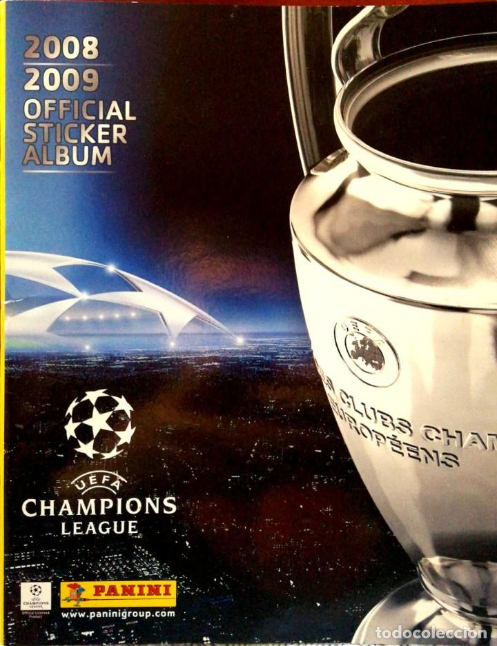 ALBUM VACIO UEFA CHAMPIONS LEAGUE - 2008 2009 OFFICIAL STICKER ALBUM - PANINI 08 09 (Coleccionismo - Cromos y Álbumes - Álbumes Incompletos)