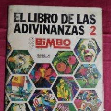 Coleccionismo Álbumes: ALBUM DE CROMOS INCOMPLETO. EL LIBRO DE LAS ADIVINANZAS 2. BIMBO. CONTIENE 233 CROMOS. Lote 232230720