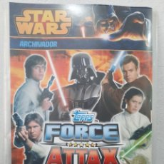 Coleccionismo Álbumes: ALBUM STAR WARS FORCE ATTAX, TRADING CARDS - TOPPS (NUEVO). Lote 255981620