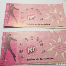 Coleccionismo Álbumes: ALBUMES PIPAS POP 70 IDOLOS DE LA CANCIÓN PLANCHA. Lote 233401545