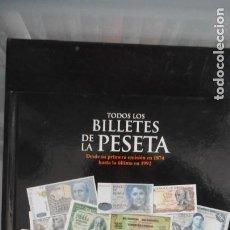 Coleccionismo Álbumes: ÁLBUM TODOS LOS BILLETES DE LA PESETA. INCOMPLETO. Lote 233530370