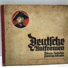 Coleccionismo Álbumes: ALBUM UNIFORMES MILITARES ALEMANES AÑO 1932 - FALTAN 2 PAGINAS. Lote 234276985