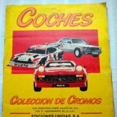 Coleccionismo Álbumes: ÁLBUM COCHES. COLECCIÓN DE CROMOS. MOTOR 16, 1986. CASI COMPLETO, SOLO LE FALTAN 2 CROMOS (62 Y 162). Lote 234297345