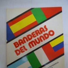Coleccionismo Álbumes: ALBUM DE CROMOS INCOMPLETO BANDERAS DEL MUNDO. EDITORIAL NUEVA LENTE, AÑO 1987. Lote 234804715
