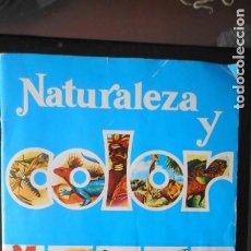 Coleccionismo Álbumes: ÁLBUM NATURALEZA Y COLOR (INCOMPLETO). Lote 235560600