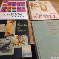 Coleccionismo Álbumes: LOTE ALBUNES DE CROMOS NESTLÉ. Lote 235693550