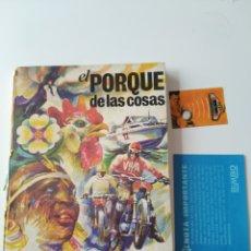 Coleccionismo Álbumes: ÁLBUM EL PORQUE DE LAS COSAS BIMBO. AÑO 1970. INCOMPLETO. 48 CROMOS. + 1 REPETIDO.. Lote 236087590