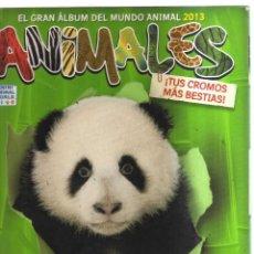 Coleccionismo Álbumes: ALBUM ANIMALES EL GRAN ALBUM DEL MUNDO ANIMAL 2013 CON 36 CROMOS. Lote 236139060