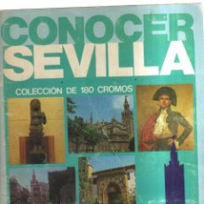 Coleccionismo Álbumes: ALBUM CONOCER SEVILLA FALTAN 23 CROMOS. Lote 236145075
