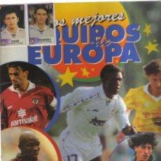 Coleccionismo Álbumes: ALBUM LOS MEJORES EQUIPOS DE EUROPA FALTAN 3 CROMOS. Lote 236148980
