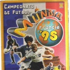 Coleccionismo Álbumes: ALBUM MUNDIAL FRANCIA 98 CAMPEONATO DE FUTBOL CON 282 CROMOS. Lote 236157435
