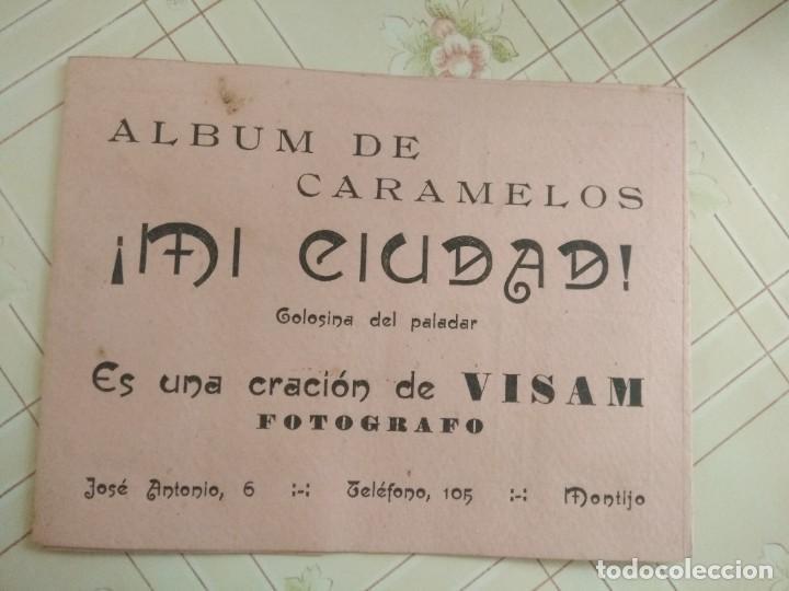 ALBUM CARAMELOS MI CIUDAD MONTIJO PEQUEÑAS FOTOGRAFIAS TIPO POSTALES POSTAL MINI CIUDAD MONTIJO (Coleccionismo - Cromos y Álbumes - Álbumes Incompletos)