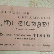 Coleccionismo Álbumes: ALBUM CARAMELOS MI CIUDAD MONTIJO PEQUEÑAS FOTOGRAFIAS TIPO POSTALES POSTAL MINI CIUDAD MONTIJO. Lote 236173415