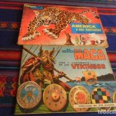 Coleccionismo Álbumes: MAGA VIDA Y COSTUMBRES DE LOS VIKINGOS INCOMPLETO CON CUADERNILLO. REGALO AMÉRICA Y SUS HABITANTES.. Lote 236514445