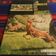 Coleccionismo Álbumes: LOS ANIMALES EN SU AMBIENTE INCOMPLETO CON 125 CROMOS DE 244. FHER 1965. BUEN ESTADO.. Lote 236521300