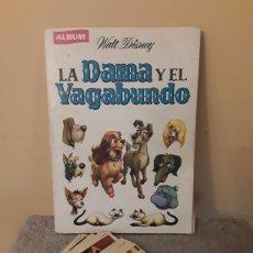 Coleccionismo Álbumes: LA DAMA Y EL VAGABUNDO. ALBUM Y CROMOS. Lote 236542040