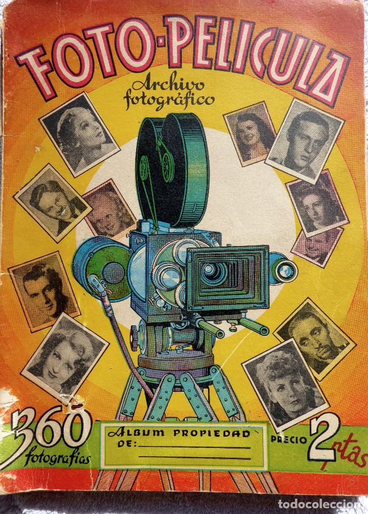 ALB-86. FOTO-PELÍCULA. ARCHIVO FOTOGRÁFICO ARTISTAS CINE AÑOS 40. 360 FOTOS. FALTAN 18. COLOREADAS (Coleccionismo - Cromos y Álbumes - Álbumes Incompletos)
