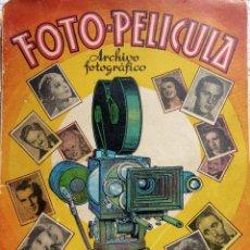 Coleccionismo Álbumes: ALB-86. FOTO-PELÍCULA. ARCHIVO FOTOGRÁFICO ARTISTAS CINE AÑOS 40. 360 FOTOS. FALTAN 18. COLOREADAS. Lote 236557395