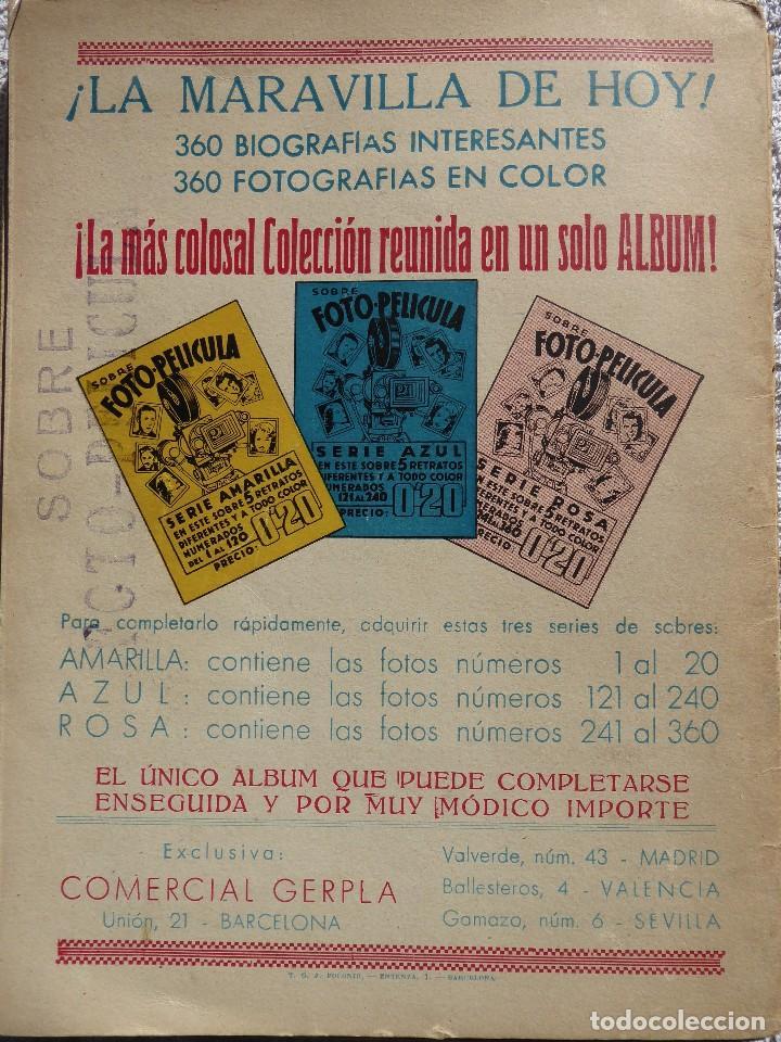 Coleccionismo Álbumes: ALB-86. FOTO-PELÍCULA. ARCHIVO FOTOGRÁFICO ARTISTAS CINE AÑOS 40. 360 FOTOS. FALTAN 18. COLOREADAS - Foto 2 - 236557395