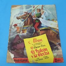 Coleccionismo Álbumes: ÁLBUM DE CROMOS - EL HALCÓN Y LA FLECHA - BURT LANCASTER - VIRGINIA MAYO - EDICIONES CLIPER AÑOS 50. Lote 242271050