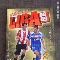 Coleccionismo Álbumes: ALBUM LIGA 08 09 COLECCIONES ESTE CON MAS DE 450 CROMOS INCOMPLETO. Lote 243827945