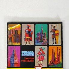 Coleccionismo Álbumes: ÁLBUM DE CROMOS - EUROPA NUESTRO CONTINENTE - CHOCOLATES TORRAS - 228 CROMOS FALTAN 118 CROMOS. Lote 244191780
