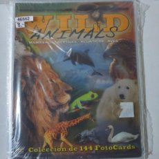 Coleccionismo Álbumes: 46552 - ALBUM WILD ANIMALS - COLECCION DE 144 FOTOCARDS - INCOMPLETO. Lote 244959535