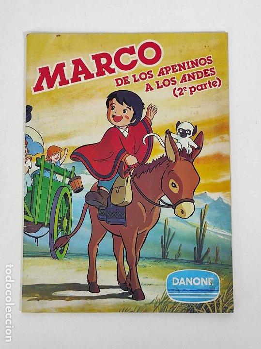ÁLBUM DE CROMOS - MARCO DE LOS APENINOS A LOS ANDES 2ª PARTE DANONE - 96 CROMOS FALTAN 4 CROMOS (Coleccionismo - Cromos y Álbumes - Álbumes Incompletos)