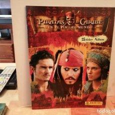 Coleccionismo Álbumes: ALBUM PIRATAS DEL CARIBE EN EL FIN DEL MUNDO DE PANINI VACIO PERFECTO ESTADO VER FOTOS. Lote 246128585