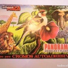 Coleccionismo Álbumes: ALBUM PANORAMA ANIMALES Y PLANTAS - 26 CROMOS DE 270 - MAGA - 1976. Lote 246136510