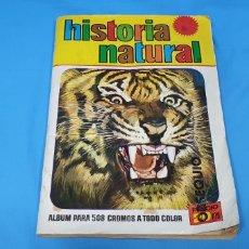 Coleccionismo Álbumes: ÁLBUM DE CROMOS HISTORIA NATURAL - BRUGUERA. Lote 250127440