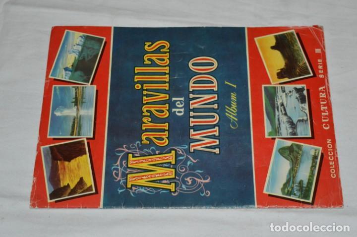 ÁLBUM VACÍO - ÁLBUM I / MARAVILLAS DEL MUNDO - EDITORIAL BRUGUERA - AÑOS 50 - BUEN ESTADO - ¡MIRAR! (Coleccionismo - Cromos y Álbumes - Álbumes Incompletos)