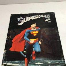 Coleccionismo Álbumes: ALBUM DE CROMOS INCOMPLETO SUPERMAN II. EDITORIAL FHER 1980 ALBUM INCOMPLETO FALTAN 3 ( 1- 27 - 44. Lote 251918925