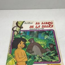 Coleccionismo Álbumes: ALBUM EL LIBRO DE LA SELVA PANINI INCOMPLETO, 104 CROMOS PEGADOS DE 225. FALTAN 121. Lote 252154730