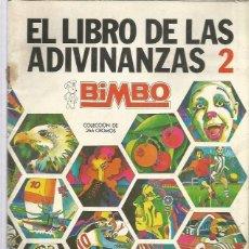 Collectionnisme Albums: BIMBO LIBRO DE ADIVINANZAS 2. Lote 252610420