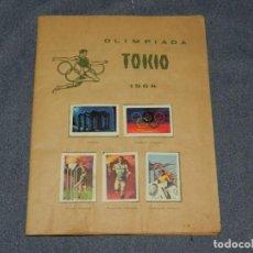 Colecionismo Cadernetas: CAMPEONATOS NACIONALES DE FÚTBOL 1965, OLIMPIADA TOKIO 1964, EDT RUIZ ROMERO, COMPLETO, FALTAN TAPAS. Lote 253633615