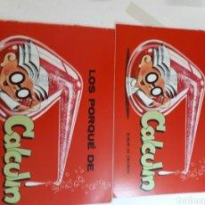 Coleccionismo Álbumes: ALBUM CALCULIN PLANCHA. Lote 253965895