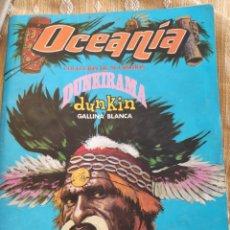 Coleccionismo Álbumes: ÁLBUN DE CROMOS OCEANIA - DUNKIRAMA - DUNKIN - GALLINA BLANCA. Lote 254187415