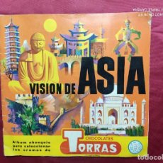 Coleccionismo Álbumes: ALBUM DE CROMOS INCOMPLETO. VISION DE ASIA. CHOCOLATES TORRAS. 1961. CONTIENE 92 CROMOS. Lote 278446068