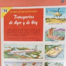 Collezionismo Album: TRANSPORTES DE AYER Y DE HOY. Nº11. EL LIBRO DE ORO DE ESTAMPAS. EDITORIAL NAVARRO, S.A.. Lote 257453700