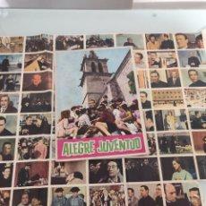 Coleccionismo Álbumes: ALBUM CROMOS ANTIGUO ALEGRE JUVENTUD 1963. Lote 257511855
