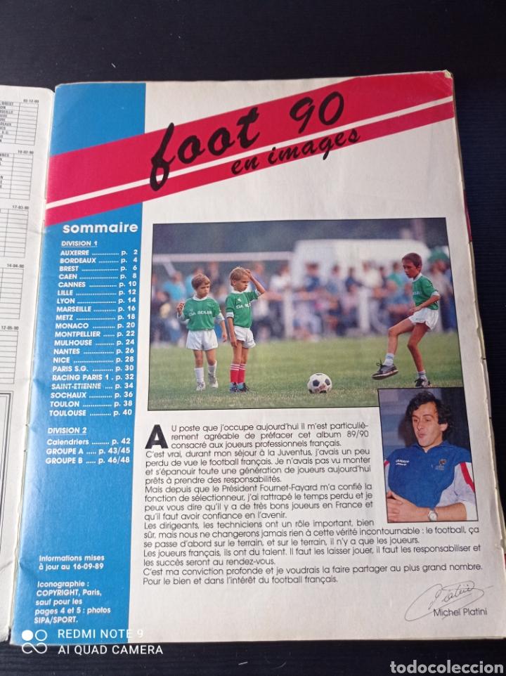 Coleccionismo Álbumes: Album de fútbol Foot 90 en images. Panini ligue 1 (liga francesa) - Foto 2 - 258871330