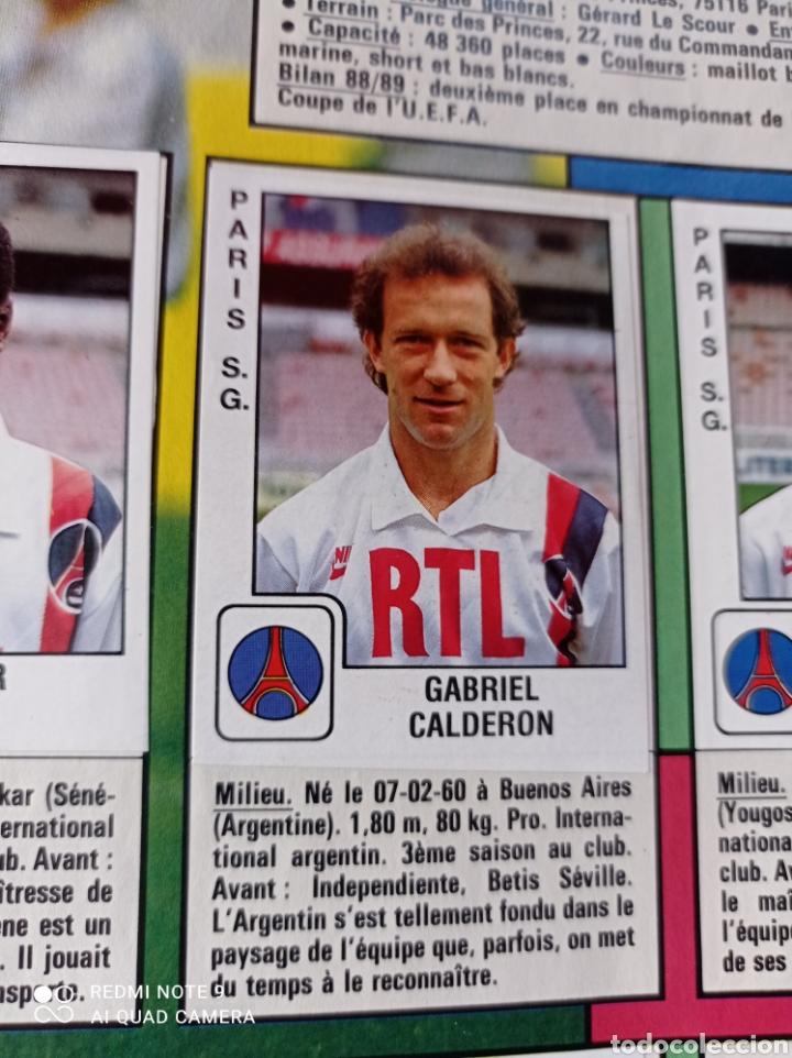 Coleccionismo Álbumes: Album de fútbol Foot 90 en images. Panini ligue 1 (liga francesa) - Foto 20 - 258871330