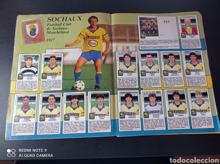 Coleccionismo Álbumes: Album de fútbol Foot 90 en images. Panini ligue 1 (liga francesa) - Foto 24 - 258871330